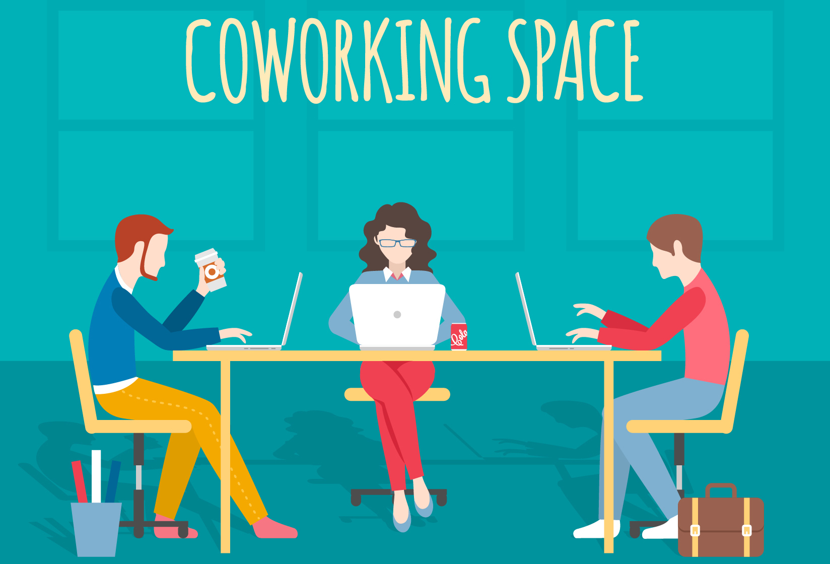 Image Source: http://www.freepik.com/free-vector/coworking-space-illustration_824182.htm